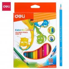 C00210 Deli Color Pencils 18 Colors