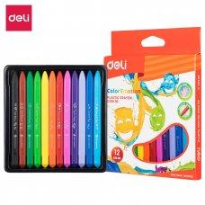 C20000 Deli Plastic Crayons 12 colors
