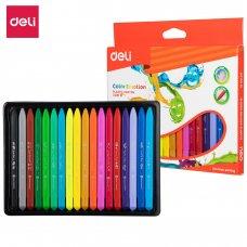 C20010 Deli Plastic Crayons 18 Colors