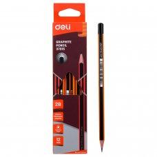 E37015 Deli 2B Graphite Pencil (12pcs/box)
